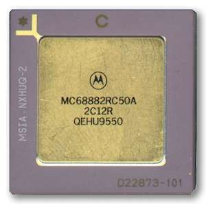 Motorola 68882 floating point coprocessor
